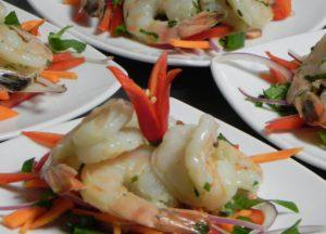 harbourside cruises-prawns-entree