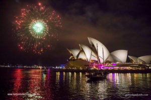 boat charter-opera house-fireworks